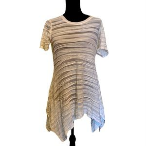Cut Loose Dress Asymmetrical Hem White size small